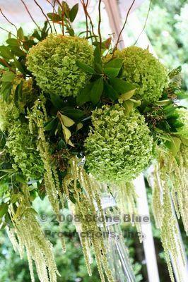 Green Hydrangea Wedding Arrangement