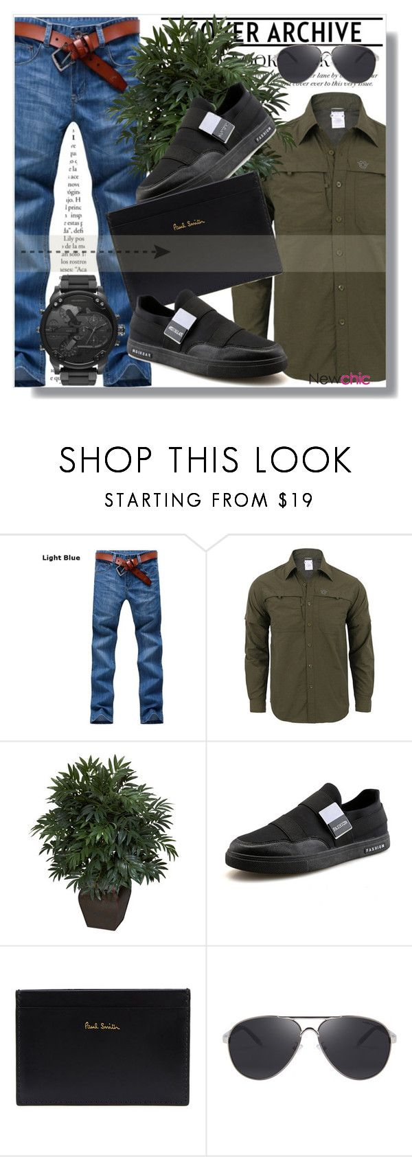 """Newchic Anniversary SALE !"" by dianagrigoryan ❤ liked on Polyvore featuring Nearly Natural, Paul Smith, Diesel, men's fashion and menswear"