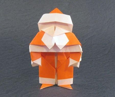 Origami Santa Claus by David Brill folded by Gilad Aharoni