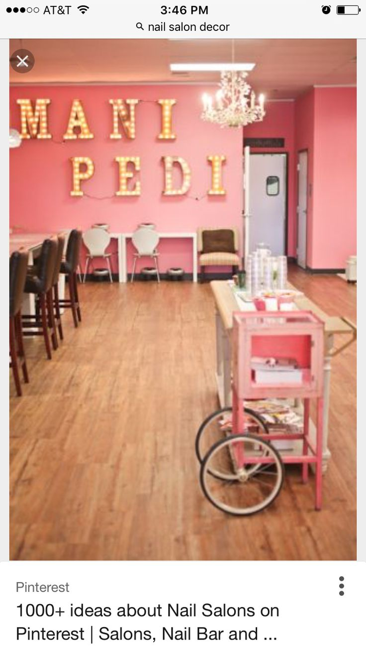 34 best Salon idea images on Pinterest | Nail salons, Manicures and ...