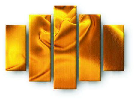 Pięcioczęściowy obraz na płótnie zatytułowany Złote płótno.  Autorstwa: Cena 299.00