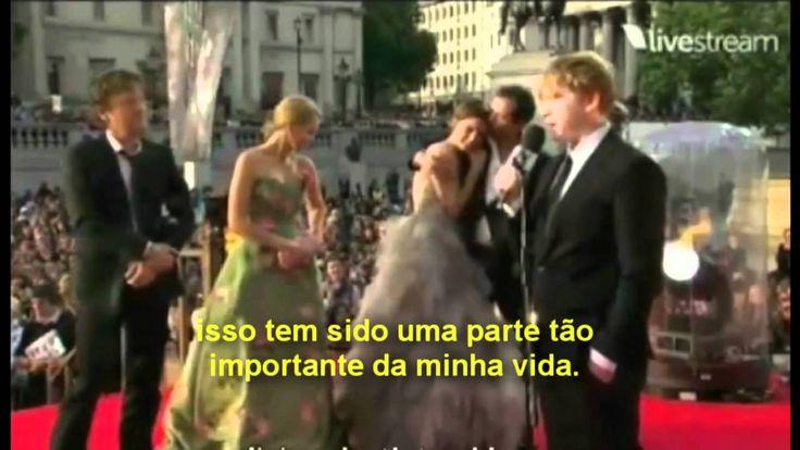 O Adeus a Harry Potter Premiere de as Relíquias da Morte II (legendado em português)