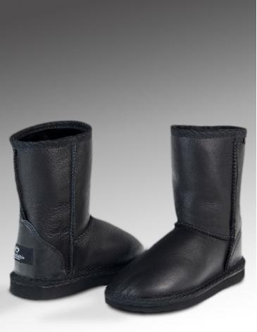 KOALABI BIG KIDS AQUA BOOTS  |  Original sheepskin kids boots with a water resistent coloured pattern