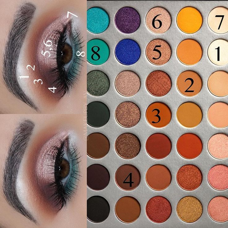 #PICTORIAL night using the Morphe Brushes x Jackie Hill palette Full makeup look…
