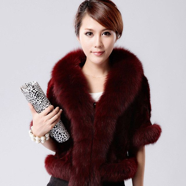 BOoDinerinle Women Short Section Of The Five-point Sleeve Imitation Fur Coat Fashion Design Collar casaco de pele falso PC009