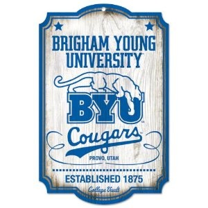 NCAA Byu 11-by-17 Wood Sign