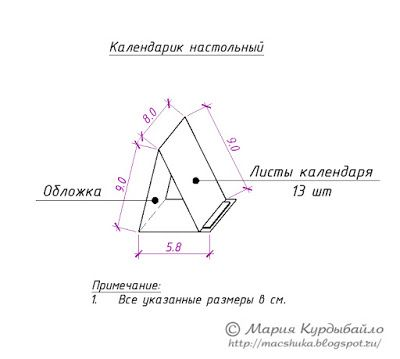 Скрапинки от Машуки: Календари в подарок коллегам (схема)
