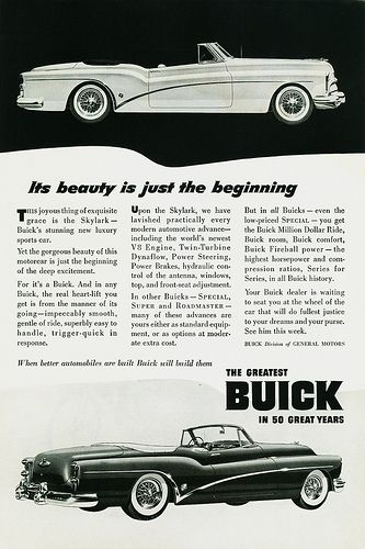 1953 Buick Skylark Ad #3 | Flickr - Photo Sharing!