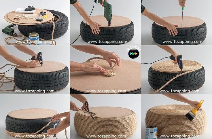 Manualidades recicladas con neumáticos