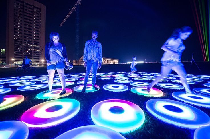 AHA! festival of lights illuminates the atmosphere of downtown cleveland - designboom | architecture