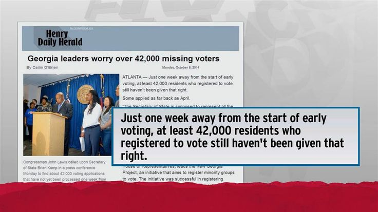 GA SOS Kemp is blocking 51,000 complete voter registration forms ...