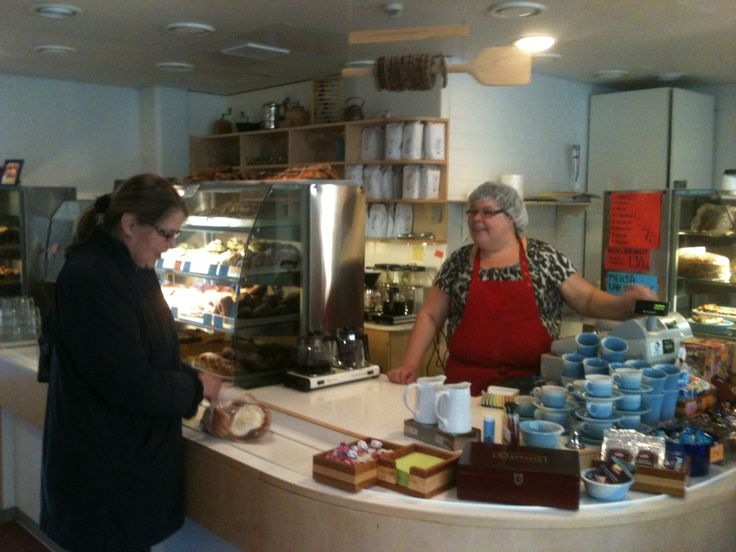 Pullaposki - what a lovely Finnish coffee shop with its traditional coffee breads.