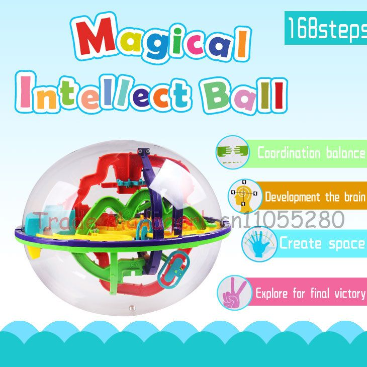 ==> [Free Shipping] Buy Best Free shipping 3d track maze intelligence ball Children's toys 168 steps kind space game ball  168 Off Maze Magic Tricks toys Online with LOWEST Price | 1900886833