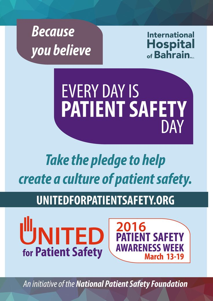 The International Hospital of Bahrain supports the Patient Safety Awareness Week 2016.  Patient safety is a public health issue. One in 10 patients develops a health care acquired condition during hospitalization. Medical error causes the death of 44,000 to 98,000 hospital patients a year.  #ihb #bahrain #hospitalbahrain #unitedforpatientsafety #patientsafetyweek #health #patients #hospitalization #medical