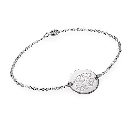 Bracelet Monogramme personnalisé en argent | Moncollierprenom