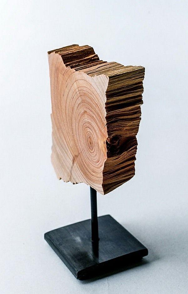 Die besten 25+ Skulpturen aus holz Ideen auf Pinterest Garten - moderne skulpturen wohnzimmer