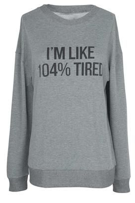 Cupshe Take Me Out Letter Casual Sweatshirt