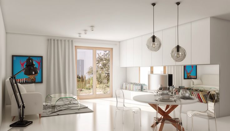 Modern livingroom / Nowoczesny salon. QQ Project