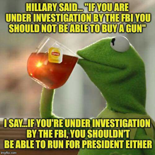 That's right, she should not be allowed to run for President