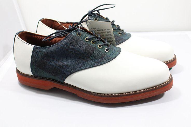 NEW Polo Ralph Lauren Oxford Metal Spikes Leather Golf Shoes Mens Size 11.5 D #PoloRalphLauren