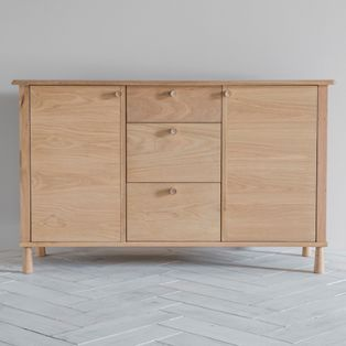 Lars wooden Sideboard in Black
