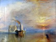 The 'Fighting Temeraire' tugged to her Last Berth to be brok...  by Joseph Mallord William Turner