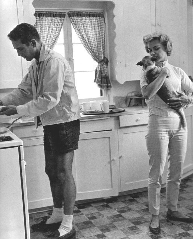 Paul Newman et Joanne Woodward en 1960.