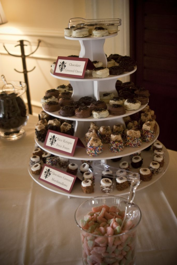 Wedding Dessert Display on our Round Cupcake Tower: http://www.thesmartbaker.com/products/5-Tier-Round-Cupcake-Tower.html
