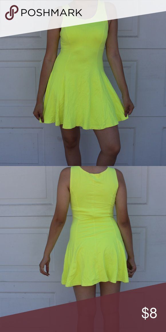 Highlight Yellow Dress Bring attention our way with this neon yellow dress! Dresses Mini