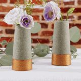 Copper and Concrete Bud Vase Wedding Favors (Set of 4)