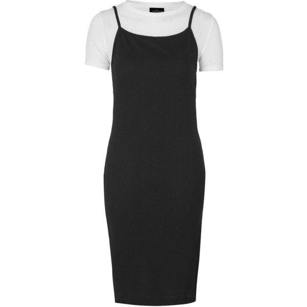 TopShop Petite T-Shirt Midi Dress ($34) ❤ liked on Polyvore featuring dresses, white, petite white dresses, topshop, basic white t shirt, basic tshirt and white jersey dress