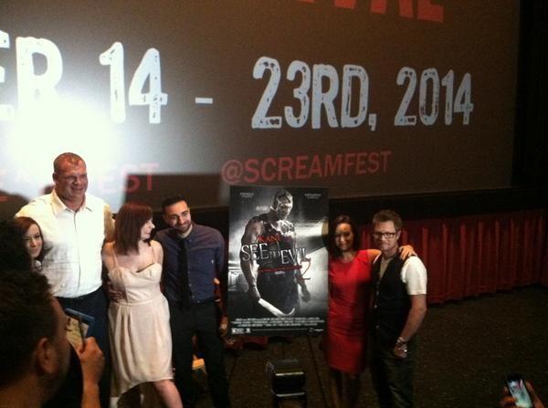 Saskia twins See No Evil 2 premiere Screamfest 2014