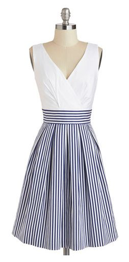 nautical stripes ~ a great base for accessories.