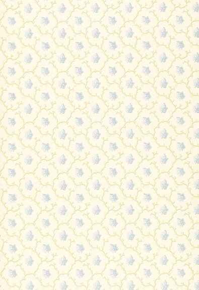 Coral Leaf | 203683 - Blue | Schumacher Wallcovering