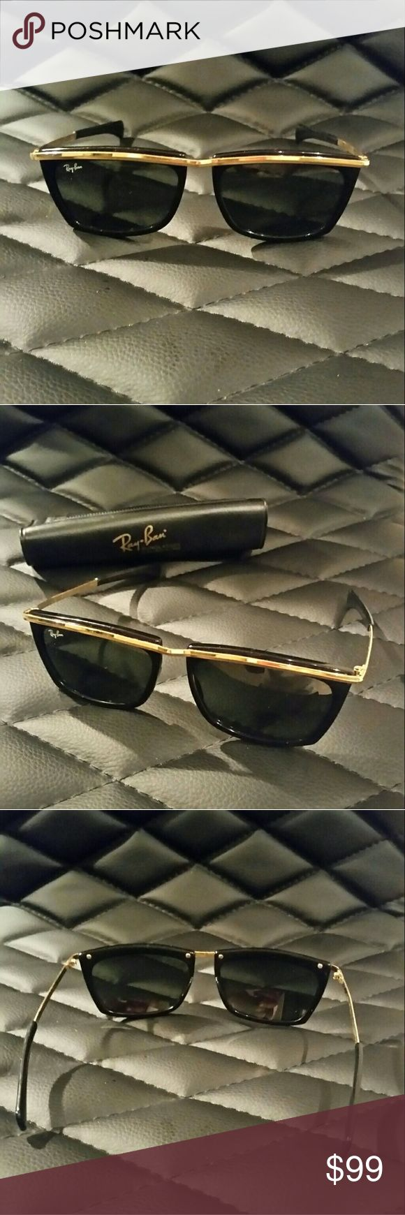 RAY-BAN sunglasses B&L USA Original Ray-Ban Olympian ll sunglasses, black & gold, Bausch & Lomb L1004 vintage, mint condition, authentic. Accessories Glasses