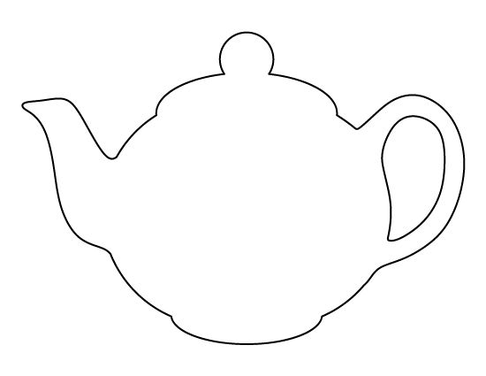 Teapot pattern. Use the printable outline for crafts, creating stencils, scrapbooking, and more. Free PDF template to download and print at http://patternuniverse.com/download/teapot-pattern/