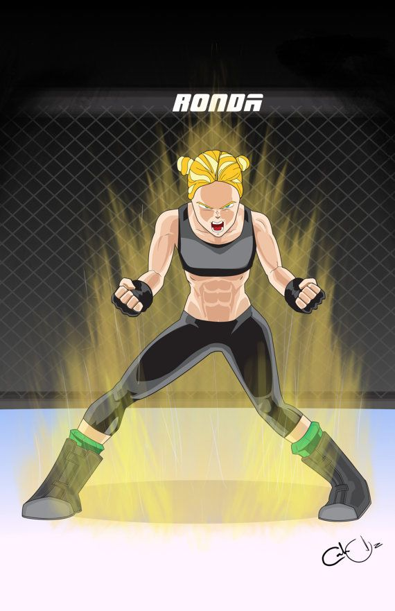 Super Saiyan Ronda Rousey Original art print by COrtizArt ...
