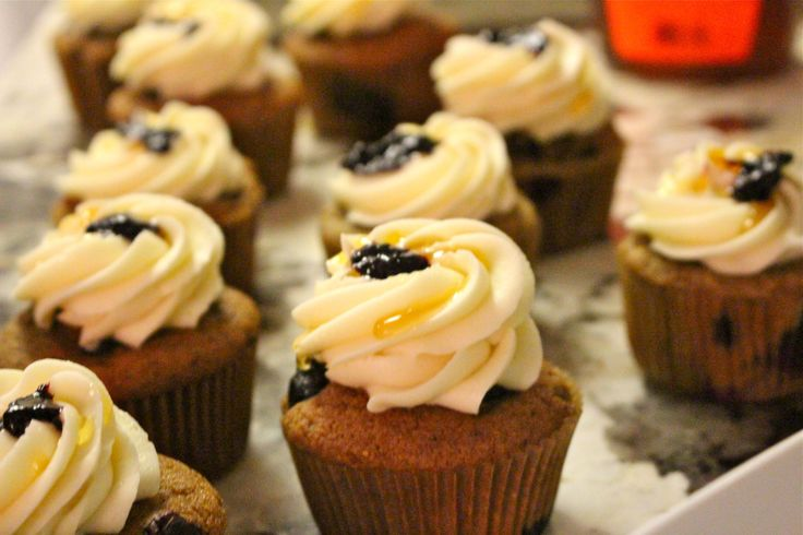 Honey Blueberry Cupcakes #glutenfree