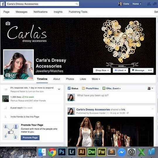 My Facebook page,  see you