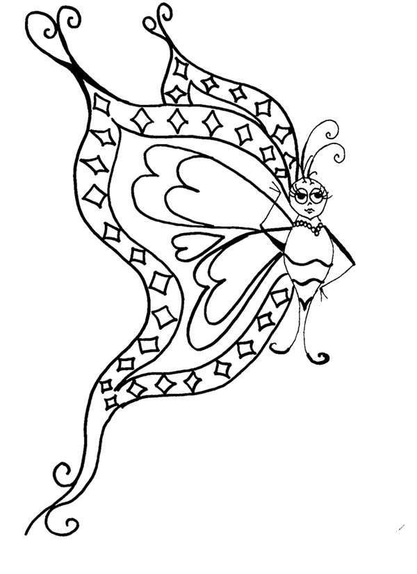 Digi Butterfly To Print And Color