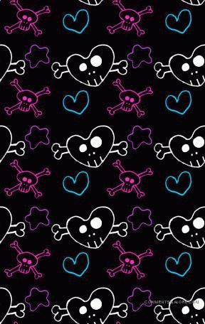 125 best girly skulls and bones wallpapers images on pinterest hearts skulls 025f 288456 voltagebd Choice Image