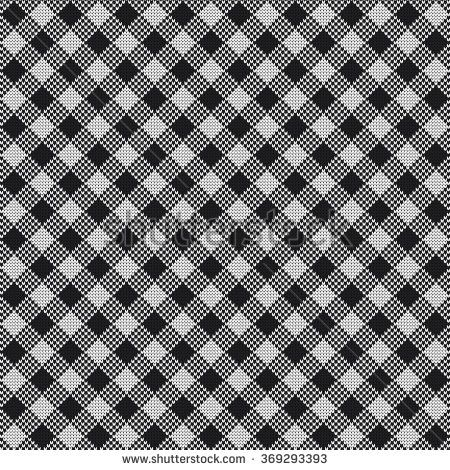Knitted seamless pattern Shepherds Check - stock vector