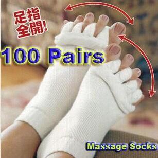 Купить товарНовый 100 пара йога тренажерный зал массаж пять Toe сепаратор носки ног выравнивание облегчение боли горячая здоровье красота женщины F0235XX в категории Носки йогина AliExpress.          Описание товара:              Модель: F0235XX          Название: ног сепаратор носки          Длина: около 22 с