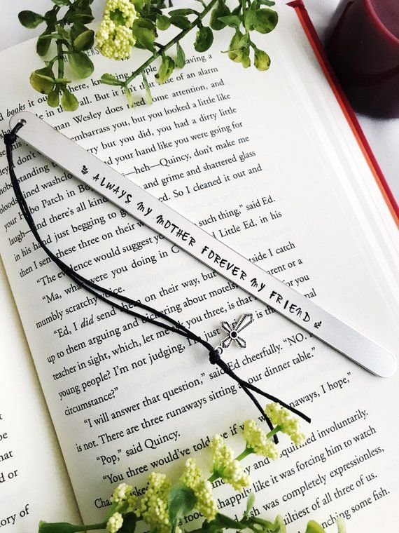 Gift For Mom From Daughter Custom Bookmark Personalized
