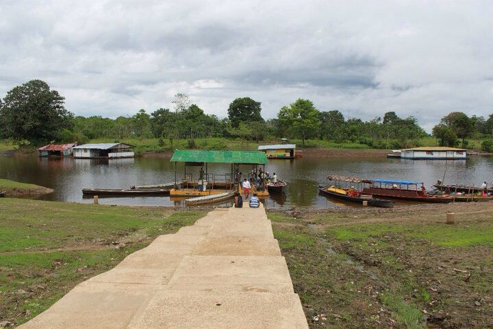 The port in Puerto Nariño,Col. Amazonas