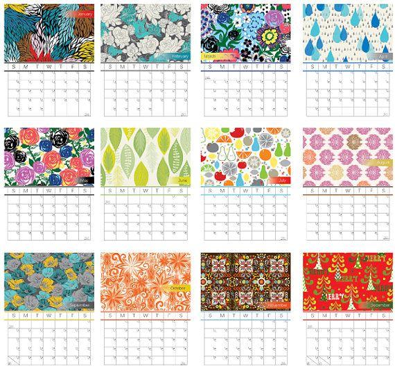 Handmade Calendar With Photos : Best images about paper calendars on pinterest
