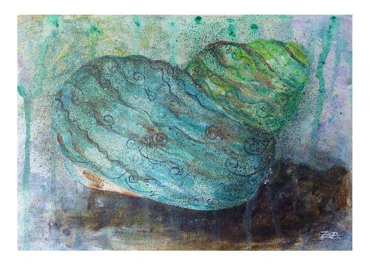 The sea on deep one's – acrylic painting