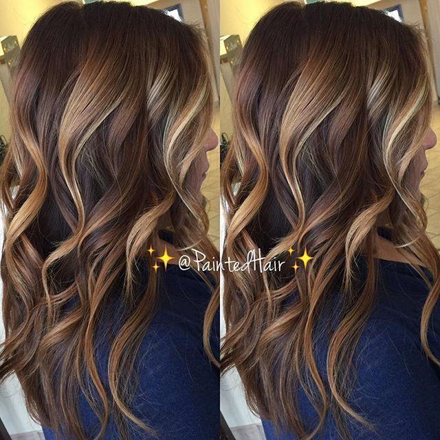 Dark cinnamon and Vanilla swirl toned.  Painted Hair. #styleartist #regram