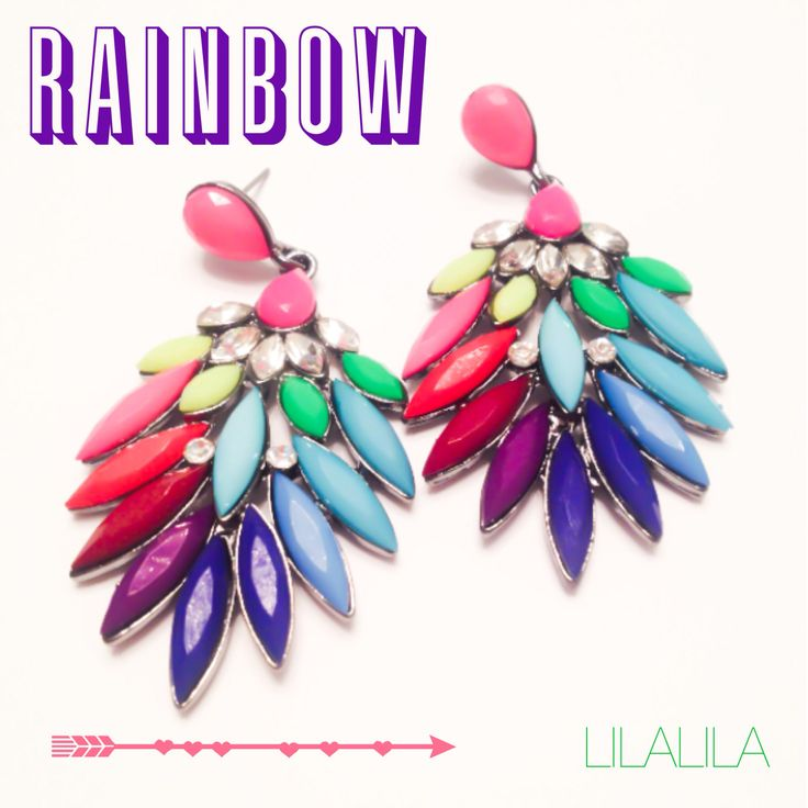 Rainbow by LILALILA  statement jewelry
