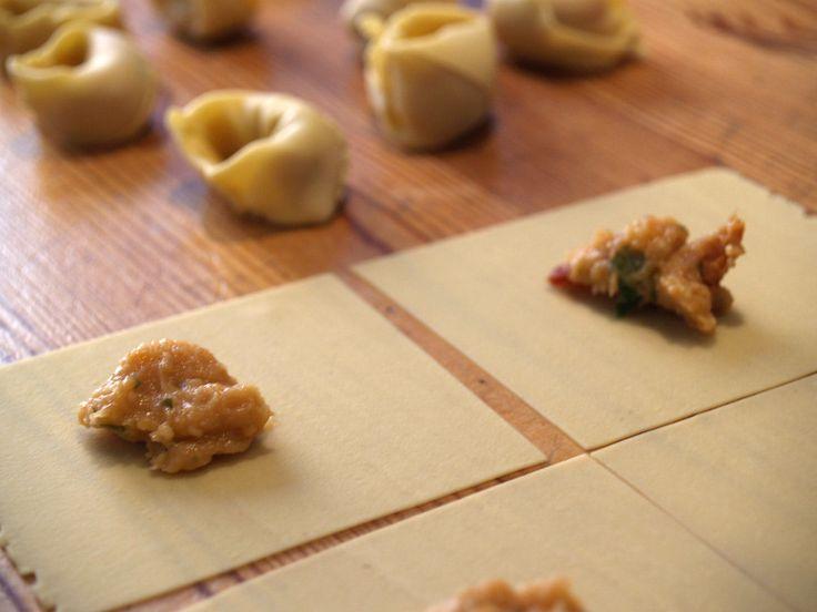Traditional Italian  dinner recipe: Tortellini Soup
